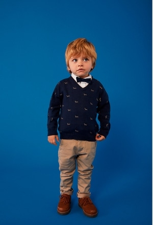 """Knitwear pullover """"puppy"""" for baby boy_1"""