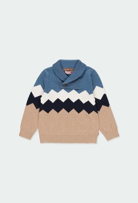 Strick pullover rhombus für baby junge_1