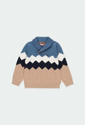 Knitwear pullover diamonds for baby boy_1