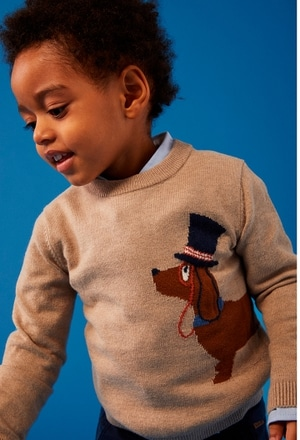 "Knitwear pullover ""puppy"" for baby boy_1"