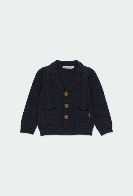 Knitwear jacket for baby boy_1
