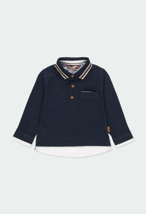Knit combined polo for baby boy_1