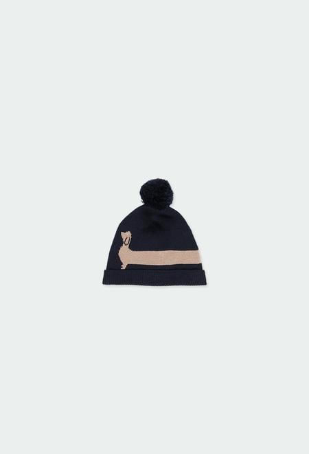 """Bonnet tricoté """"chiot"""" pour bébé_1"""
