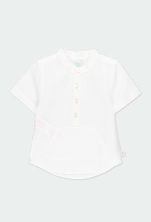 Camisa lino manga corta de bebé niño_1