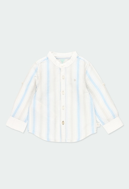 Linen shirt long sleeves striped for baby_1