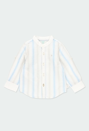 Hemd leinen lange ärmel gestreift für baby_1
