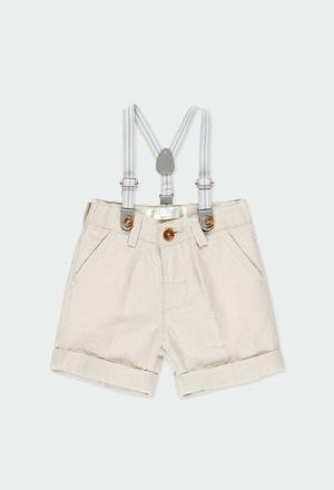 Linen bermuda shorts for baby boy_1