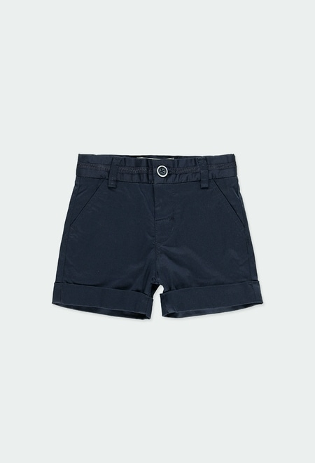 Satin bermuda shorts stretch for baby boy_1