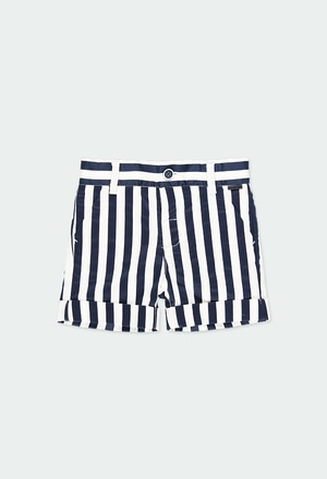 Satin bermuda shorts striped for baby boy_1