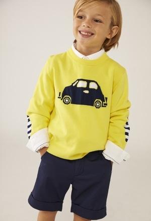 "Jersey tricotosa ""coche"" de bebé niño_1"