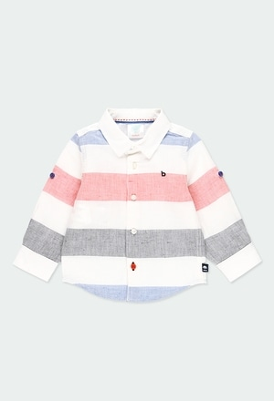 Linen shirt long sleeves striped for baby boy_1