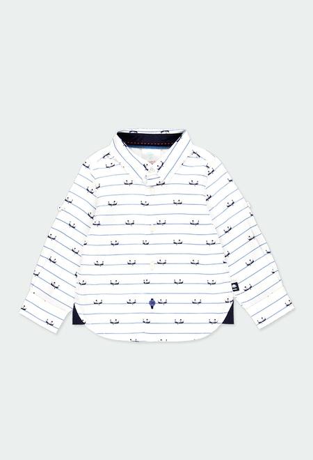 Chemise en popeline avec coudières pour bébé garçon_1