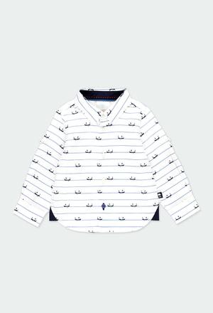 Hemd popelin mit ellenbogenpatches für baby junge_1