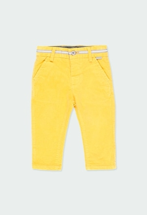 Microcorduroy trousers for baby boy_1