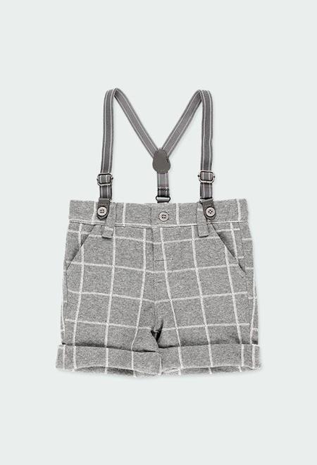 Knit bermuda shorts check for baby boy_1