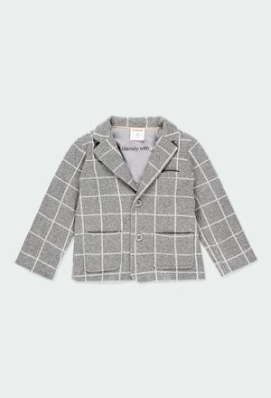Knit blazer check for baby boy_1