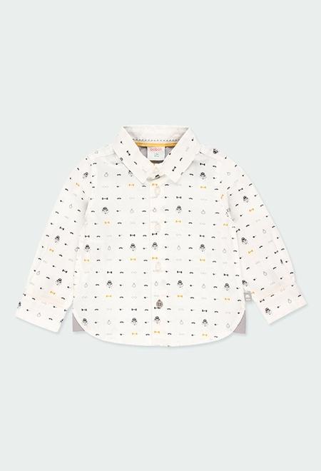 Chemise en popeline imprimée pour bébé garçon_1