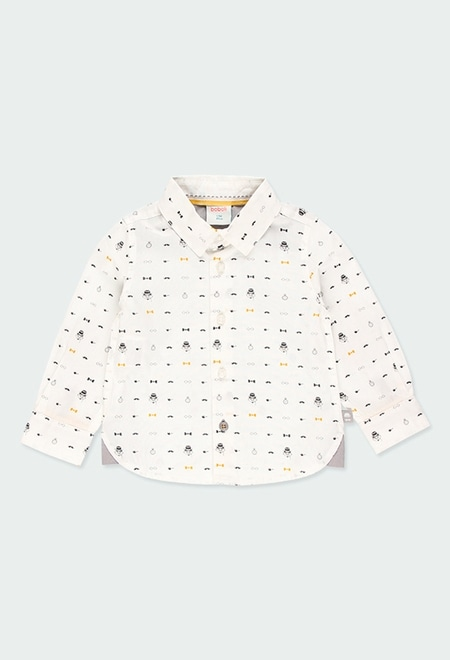 Poplin shirt printed for baby boy_1