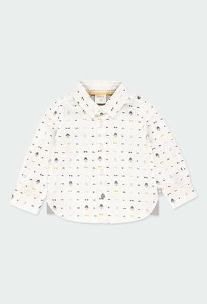 Hemd popelin gedruckt für baby junge_1