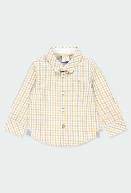 Camisa popelín cuadros de bebé niño_1