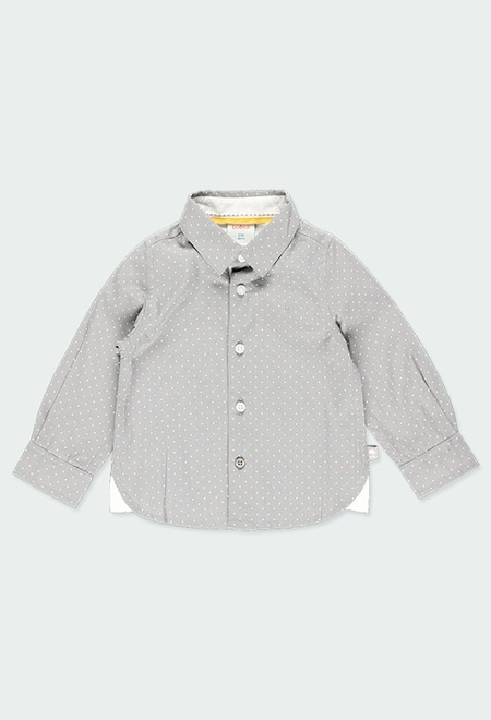 Camisa popelín topos de bebé niño_1