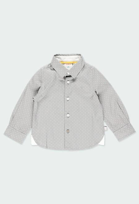 Poplin shirt polka dot for baby boy_1
