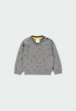 Pullover tricot para o bebé menino_1