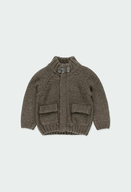 Casaco tricot com cotoveleiras do bébé_1