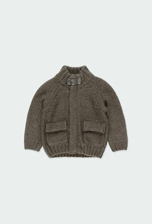 Chaqueta tricotosa con coderas de bebé_1
