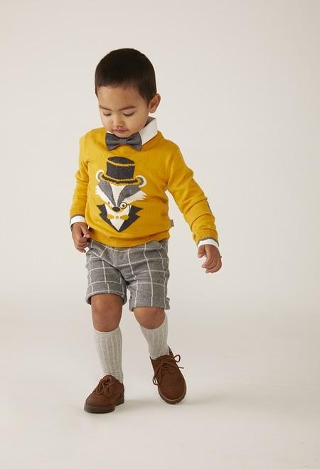 "Pullover tricot ""raposa"" para o bebé menino_1"