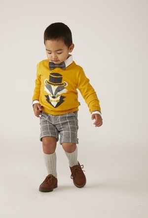"Knitwear pullover ""fox"" for baby boy_1"
