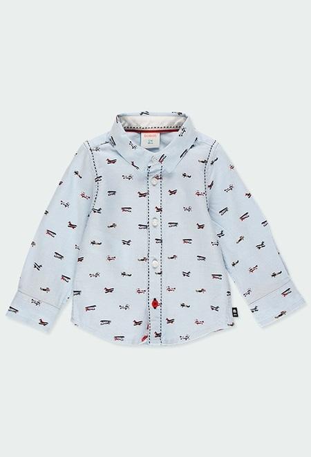 Camisa oxford manga comprida para o bebé menino_1