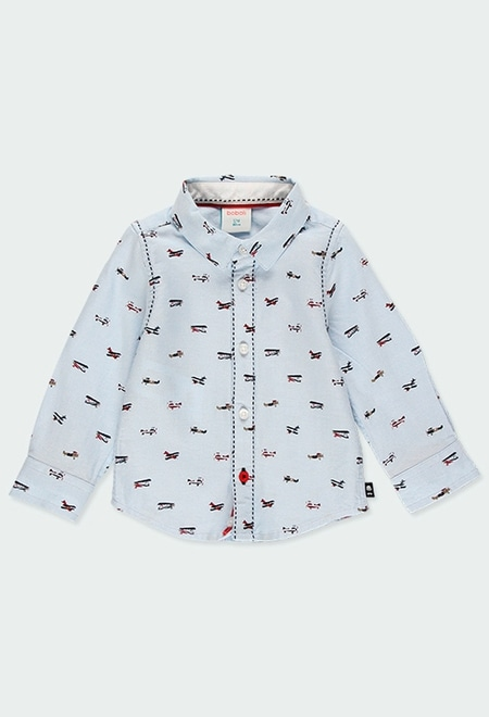 Oxford long sleeves shirt for baby boy_1