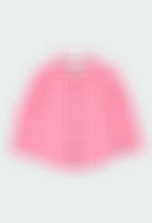 Chemise en popeline a carreaux vichy pour bébé
