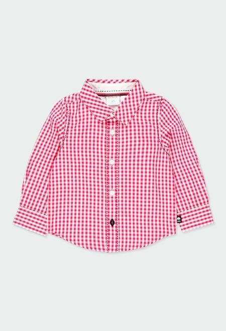 Poplin shirt vichy for baby_1