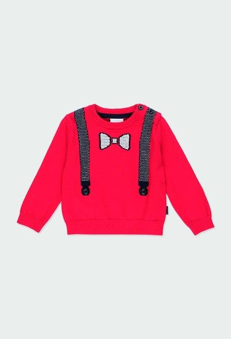 """Jersey tricotosa """"tirantes"""" de bebé niño_1"""