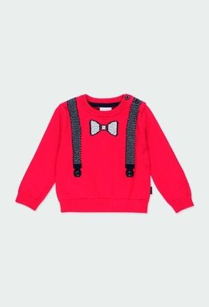 Pullover tricot suspensórios para o bebé menino_1