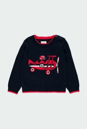 "Jersey tricotosa ""Aviador"" de bebé niño_1"