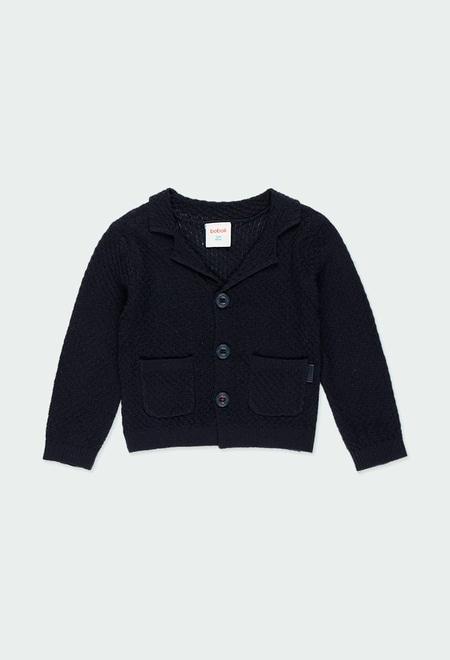 Casaco tricot para o bebé menino_1