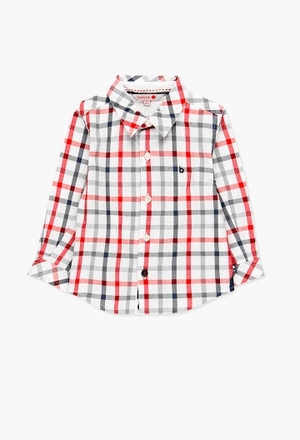 Poplin shirt check for baby boy_1