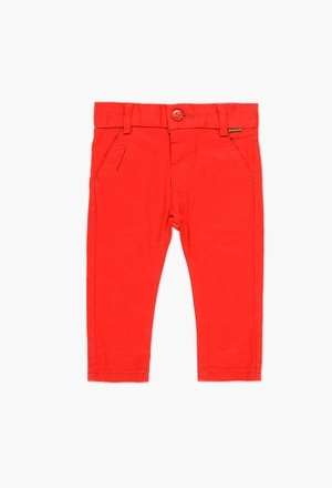 Stretch twill trousers for baby boy_1