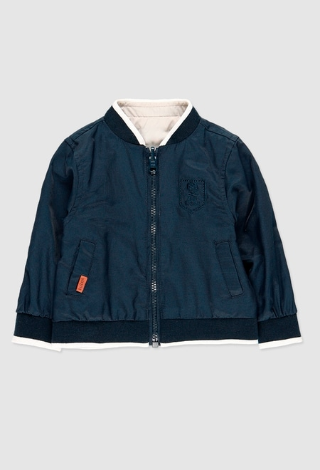 Technical fabric bomber jacket reversible for baby_1