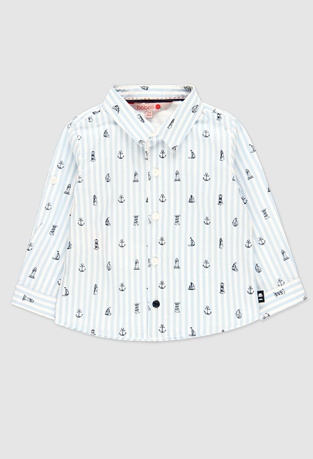 Poplin shirt for baby boy_1