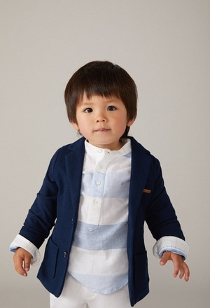 Knit blazer fantasy for baby boy_1