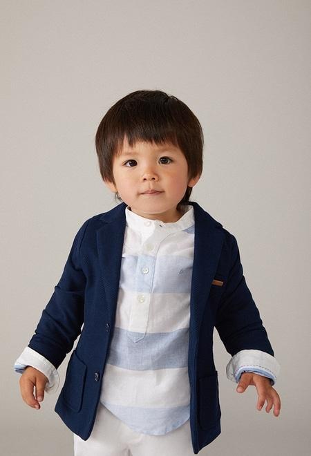 Knit blazer fantasy for baby boy_1