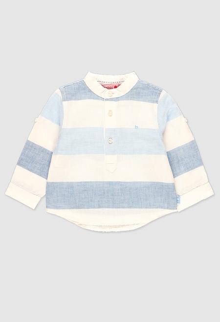 Hemd leinen lange ärmel für baby junge_1