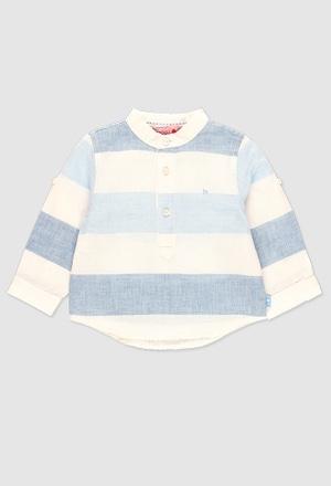 Camisa lino manga larga de bebé niño_1