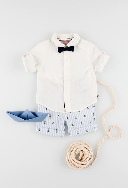 Chemise en lin manche longue pour bébé garçon_1