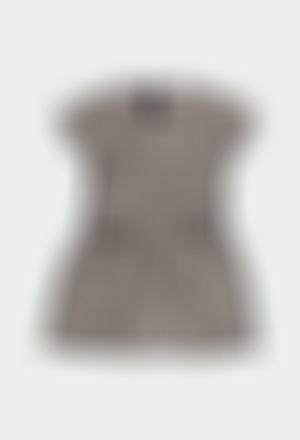 Vestido de tejido fantasía de niña