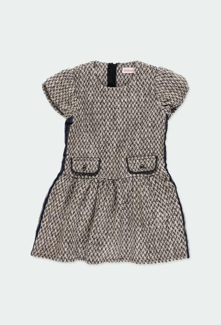 Vestido de tejido fantasía de niña_1